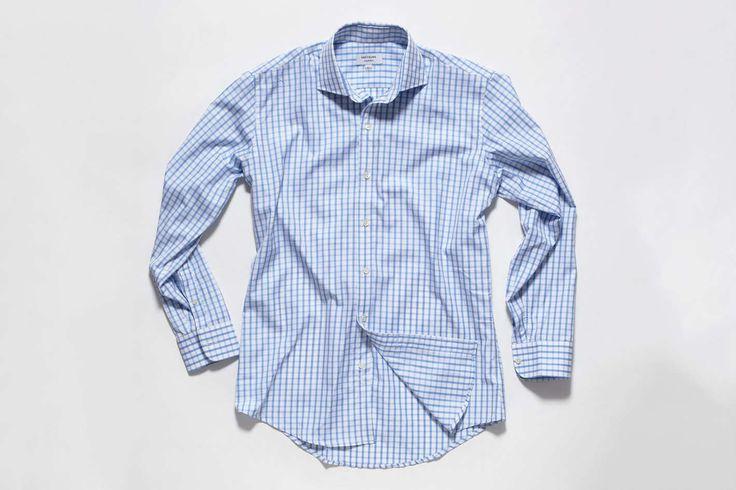 Breyburn Blue Check Cutaway Collar Shirt