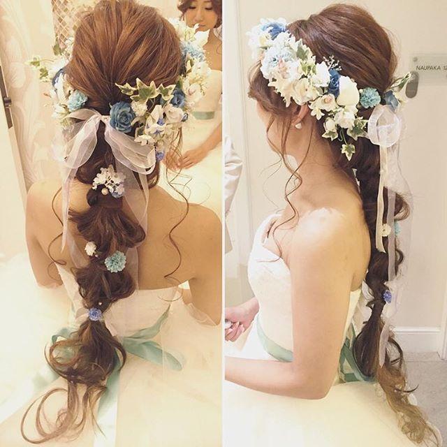 Super cute!!! ハワイからとっても可愛いヘアスタイルが届きました!  Hair & Make : @hitomimakeup…