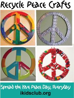 Recycle Peace Crafts For Peace Day Sept 22