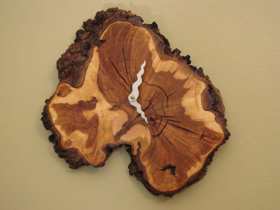 Maple Burl Clock Live Edge Slice by MissouriNatureArt on Etsy, $79.00