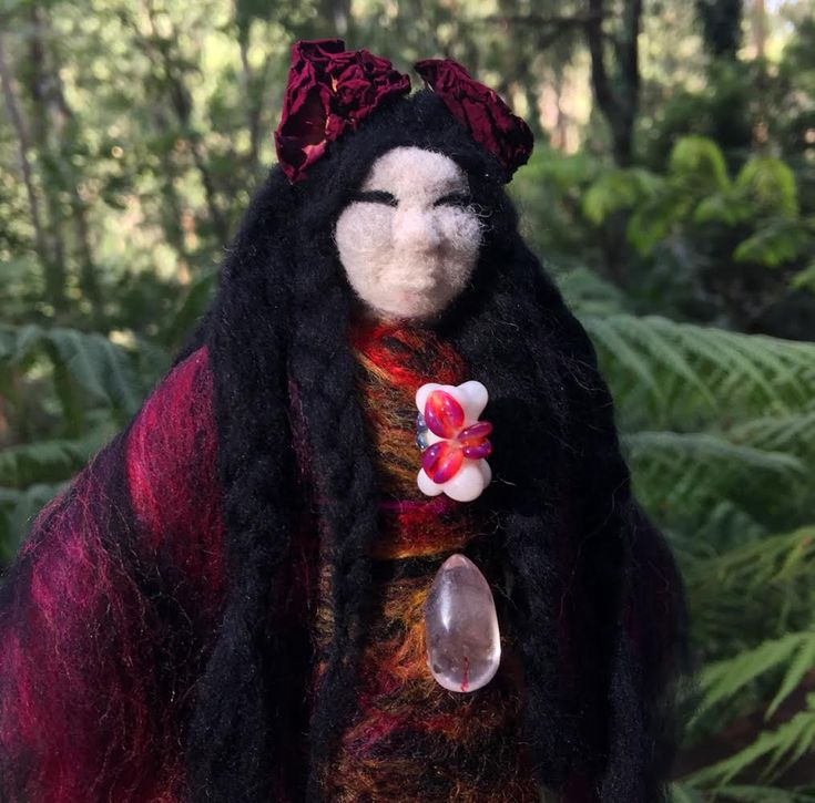 Sacred Familiar medicine doll to be left as an offering for the women persecuted as witches in Scotland.