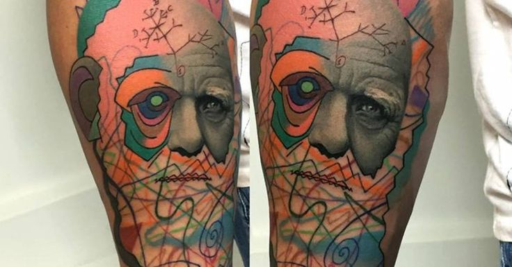 Tattoo Artist: Rafael Makarov · Dzikson Wildstyle. Tags: styles, Realism, Contemporary, Pop Art, Famous Characters, Darwin. Body parts: Inner Forearm.
