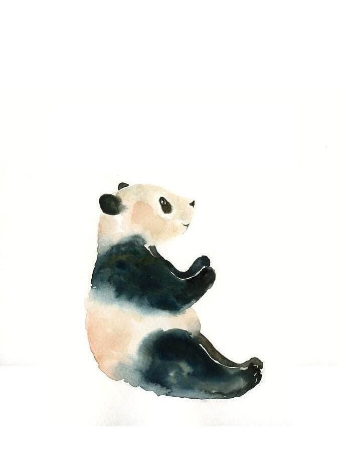 Watercolor Panda
