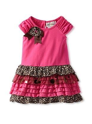 66% OFF Rare Editions Girl's 2-6X Toddler Cheetah Print Tiered Dress (Fuchsia)