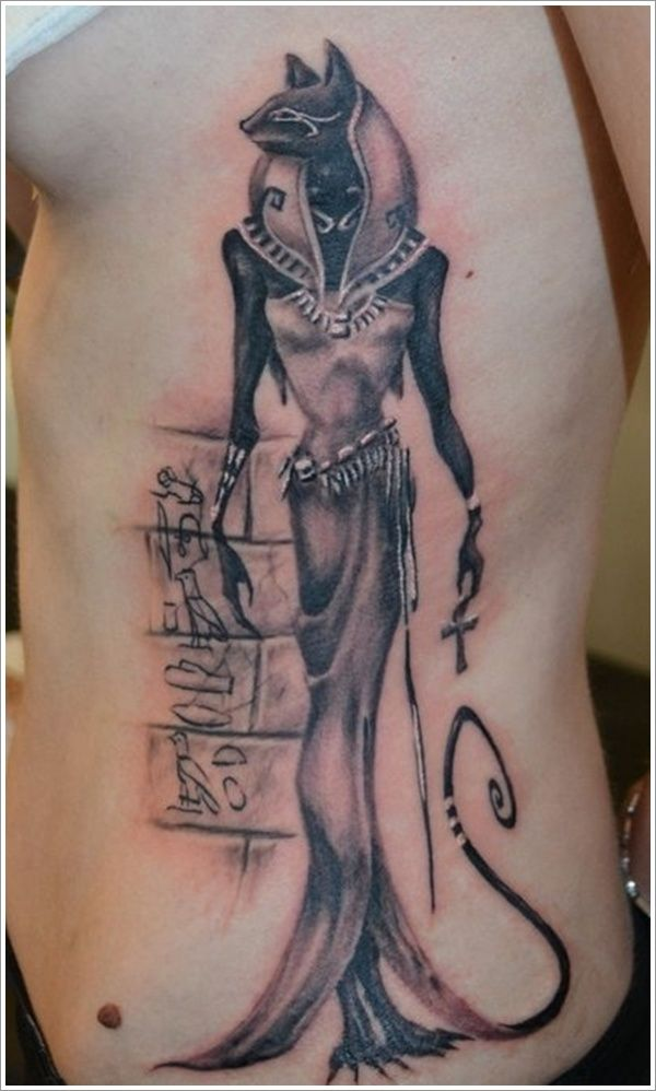 Anubis Bastet Egyptian Tattoo by WildSpiritWolf Here's ' ebontwilight'scompleted tattoo commission of Bastet and Anubis with a background of Isis wings and an Ankh. Description from pinterest.com. I searched for this on bing.com/images