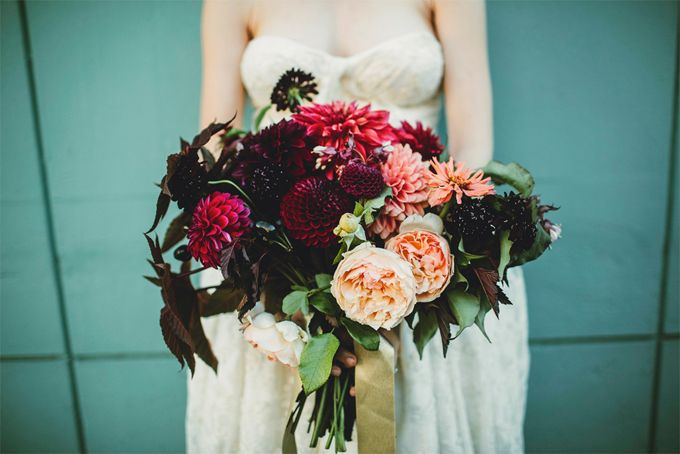 Burgundy and blackberry floral bouquet by McKenzie Powell