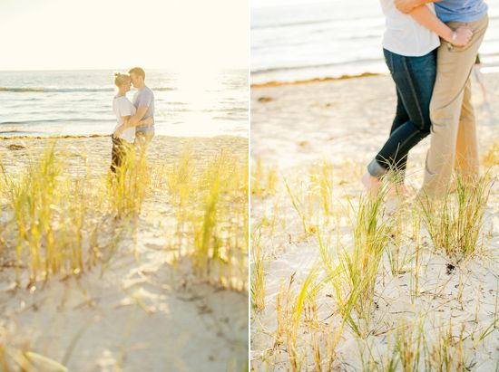 Mika and James' Winter Beach Engagement Photos