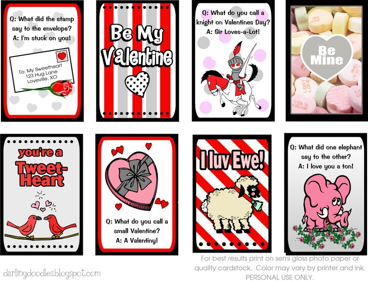 Valentines Lunch Box Notes - Darling Doodles | Darling Doodles