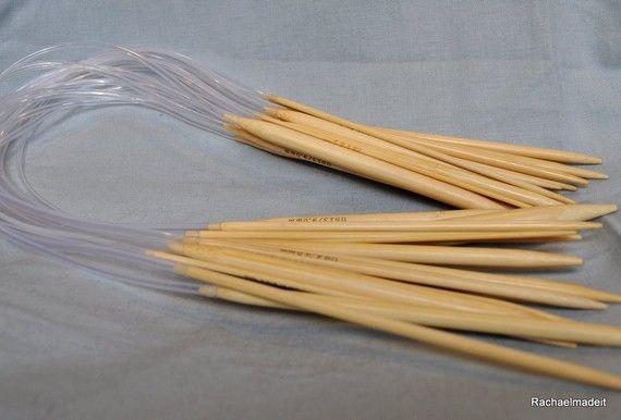 24 Inch Circular Bamboo Knitting Needles  Sizes 9 by rachaelmadeit, $4.50