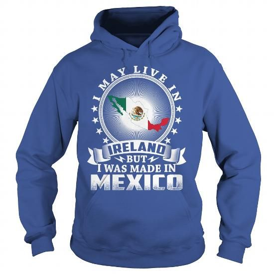 Awesome Tee Mexico Ireland - Born Live Map Shirts & Tees