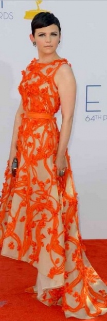 Not a mullet dress fan but this pic of Gennifer Goodwin in orange <3