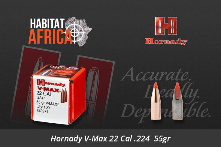 Hornady V-Max, the industry's leading varmint bullet with polymer tip and streamlined design results in ultra flat trajectories. The industry-leading concentricity of the match grade jacket design provides maximum accuracy at all ranges as well as explosive expansion, even at velocities as low as 1600 fps. V-MAX bullets are also [...]
