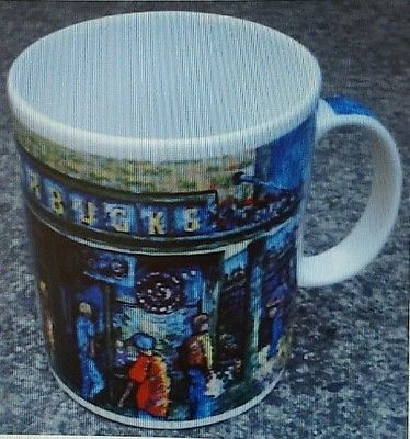Starbucks Coffee Mug Cup 1st Cafe Seattle Pike Place Market Artist Rendition