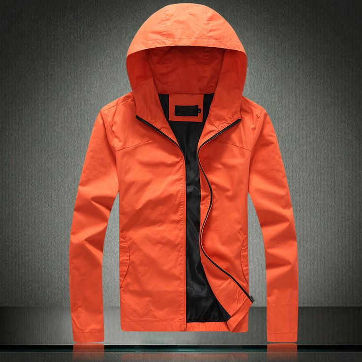 Find More Jackets Information about New 2015 Men Male Autumn Spring Fashion Hoodies Slim Jacket Outwear Quality Cotton Casual Coat Size L XXXL Black Orange Hot Sale,High Quality men ski jacket,China mens motorcycle jacket Suppliers, Cheap jacket men from E-Express on Aliexpress.com