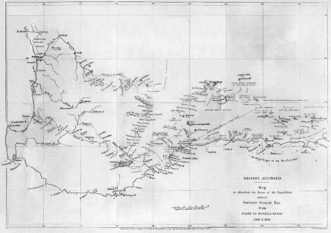 A Map to Illustrate An Expedition to the South-Eastward Of Perth, Western Australia