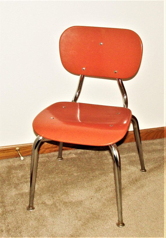 Surprising Childs School Chair Mid Century Coral Chrome So Retro Gmtry Best Dining Table And Chair Ideas Images Gmtryco