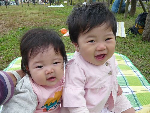 Sweet Japanese Baby Girls