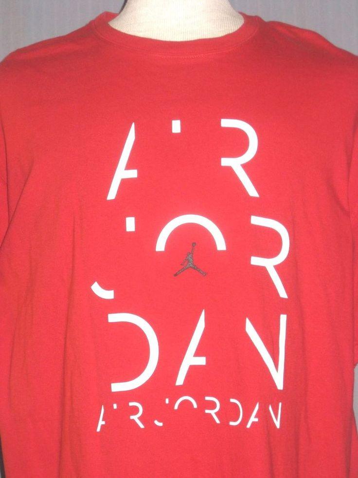 Air Jordan Adult X-Large Red T-Shirt ( XL Michael Basketball MVP Champs Shoes ) #AirJordan #GraphicTee