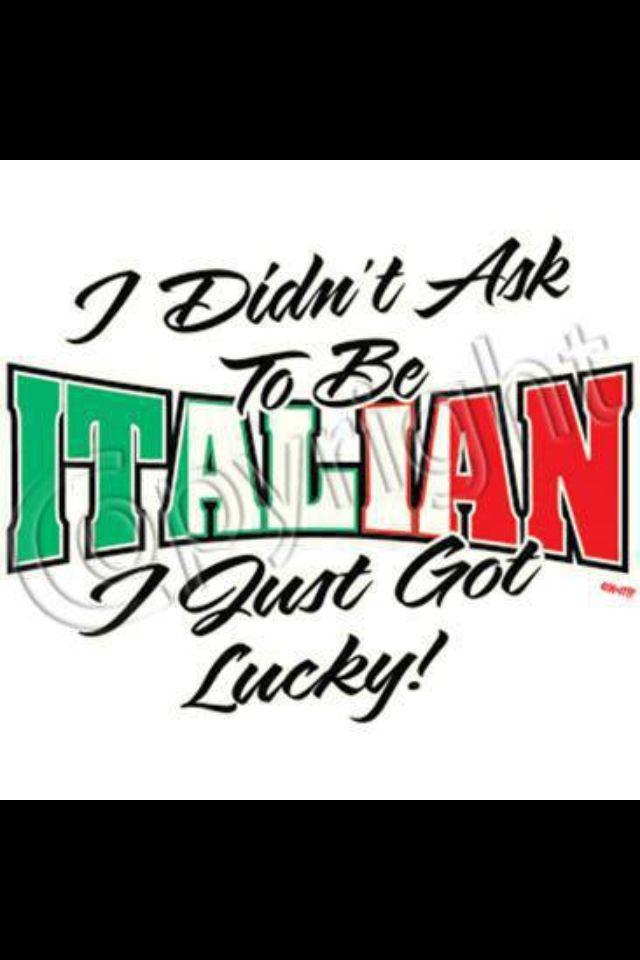 Gotta love being Italian