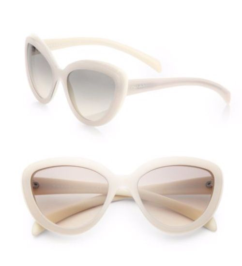 Prada 57MM Cat's-Eye Sunglasses Ivory             $59.00