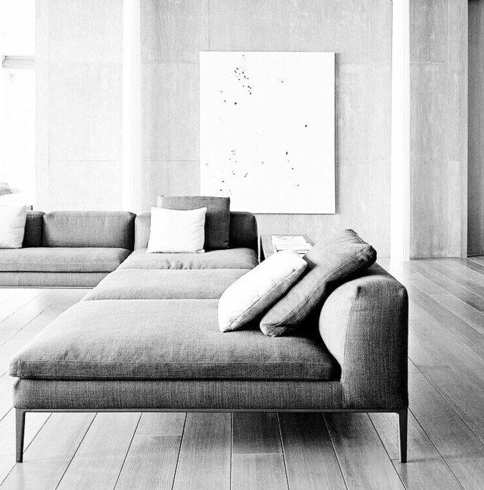 comment bien aménager votre salon avec canapé d'angle gris et le canape convertible gris
