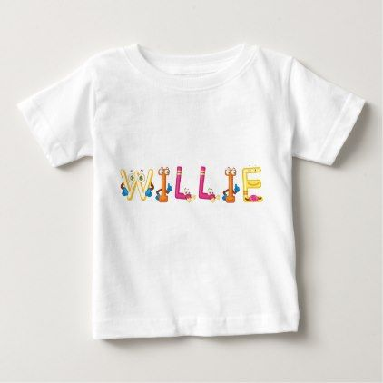 Willie Baby T-Shirt - baby gifts child new born gift idea diy cyo special unique design