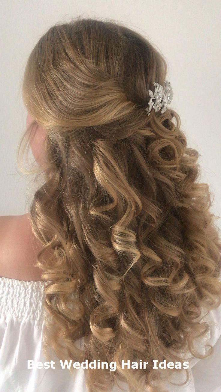 Great Wedding Hair Styles Hairforwedding Braidhair In 2020 Curled Hairstyles For Medium Hair Big Hair Curls Curled Hairstyles