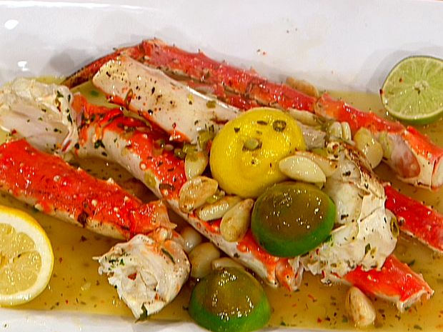 Food Network invites you to try this Sauteed King Crab in White Wine recipe from Emeril Lagasse.