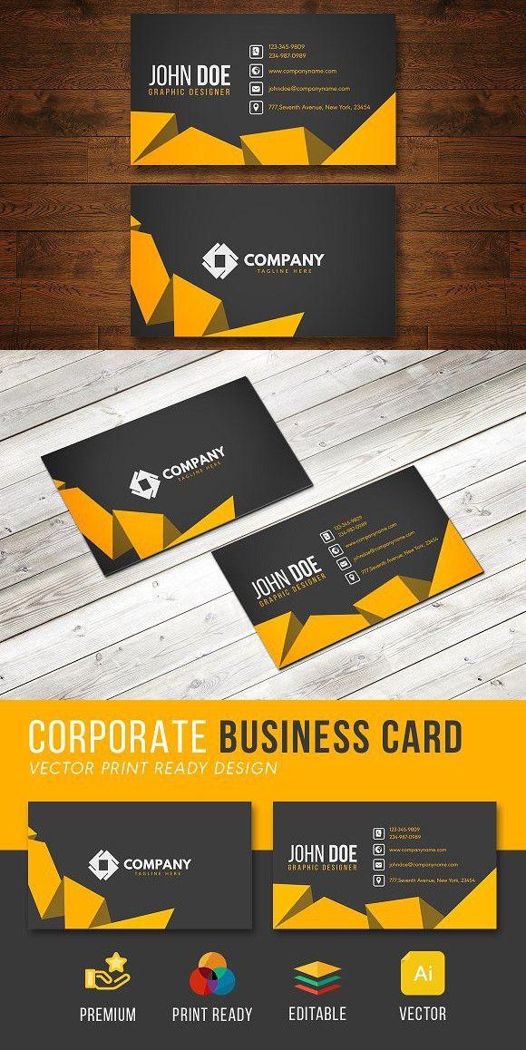 Corporate Business Card Design Corporate Business Card Design Corporate Business Card Business Card Design