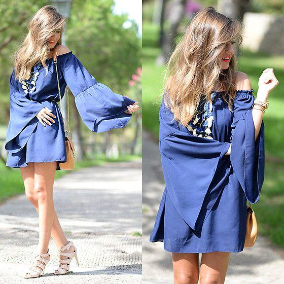 Get this look: http://lb.nu/look/7765000  More looks by Helena Cueva: http://lb.nu/miaventuraconlamoda  Items in this look:  Fashion Pills Dress, Stradivarius Sandals, Mango Necklace   #bohemian #chic #elegant