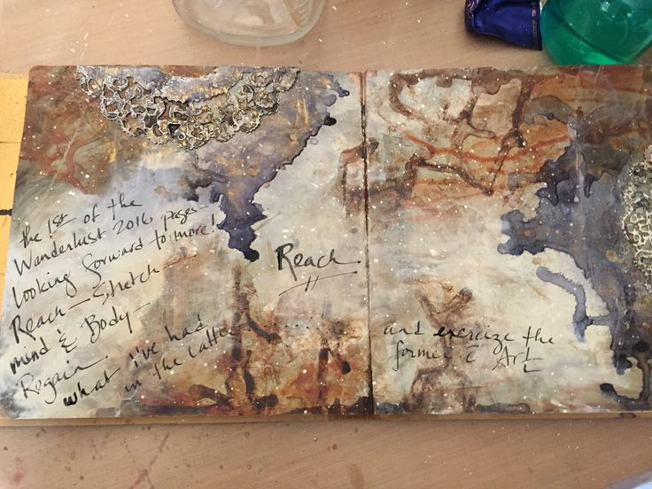 Experiments in Paper: Art Journal Page for Wanderlust 2016!