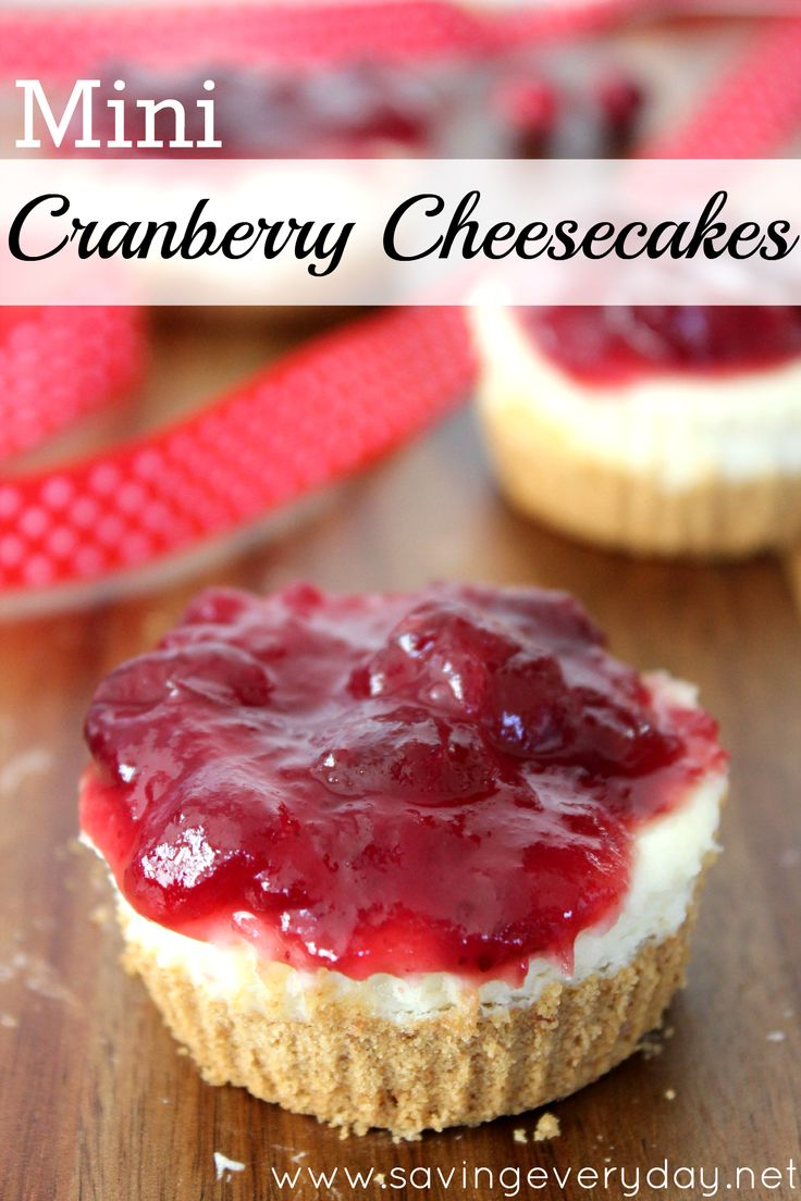 One of my favorite flavor combinations is tangy and sweet, which is exactly what my mini cranberry cheesecakes deliver! The creamy, sweet cheesecake balances the tart and tangy cranberries perfectly. They've been on my Thanksgiving dessert menu for years and are usually the first to go! Enjoy! http://www.savingeveryday.net/cranberry-cheesecakes/