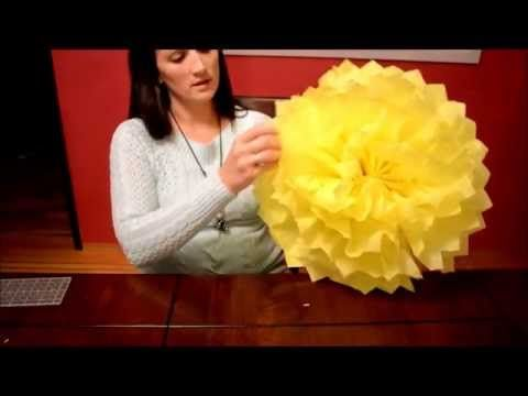 How To Make Tissue Paper Pom Poms. DIY tutorial video. www.goldstarglitter.com