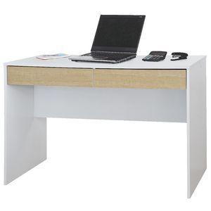Jasper 2 Drawer Desk White and Oak$59 from office works