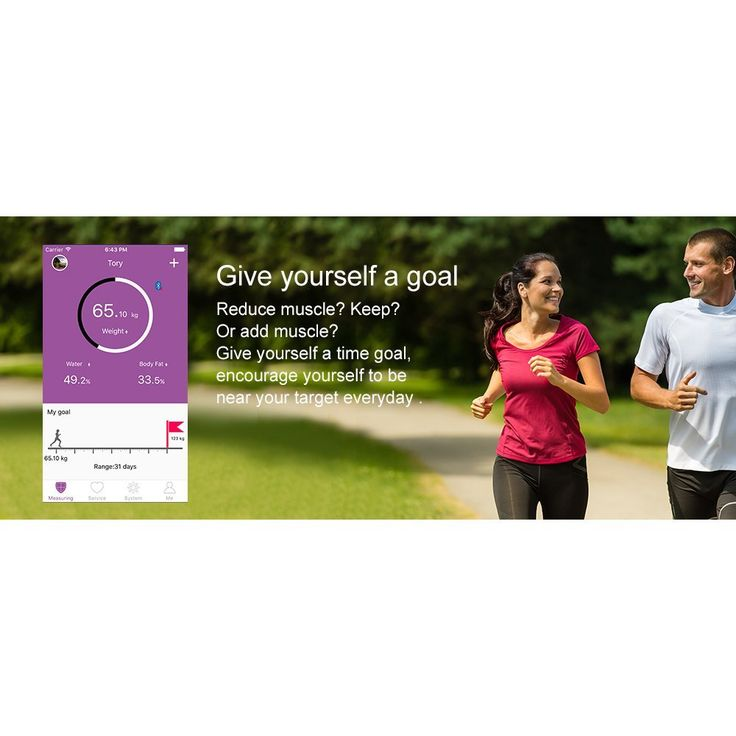 marsboy Smart Körperfettwaage Bluetooth Personenwaage Gewichtswaage messen…