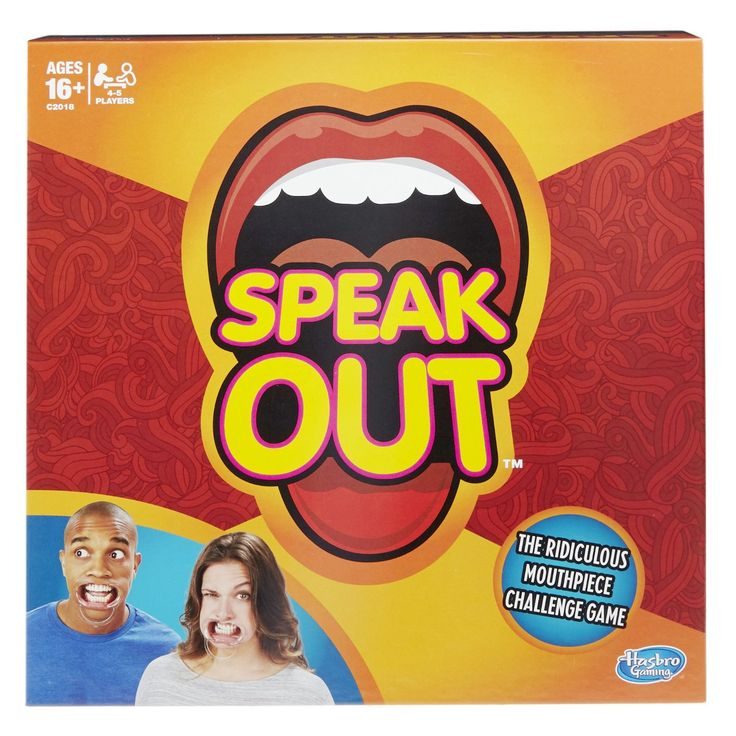 Hasbro Speak Out Game by Hasbro.  Get ready to be doubled over with laughter with this ridiculous mouthpiece challenge game!