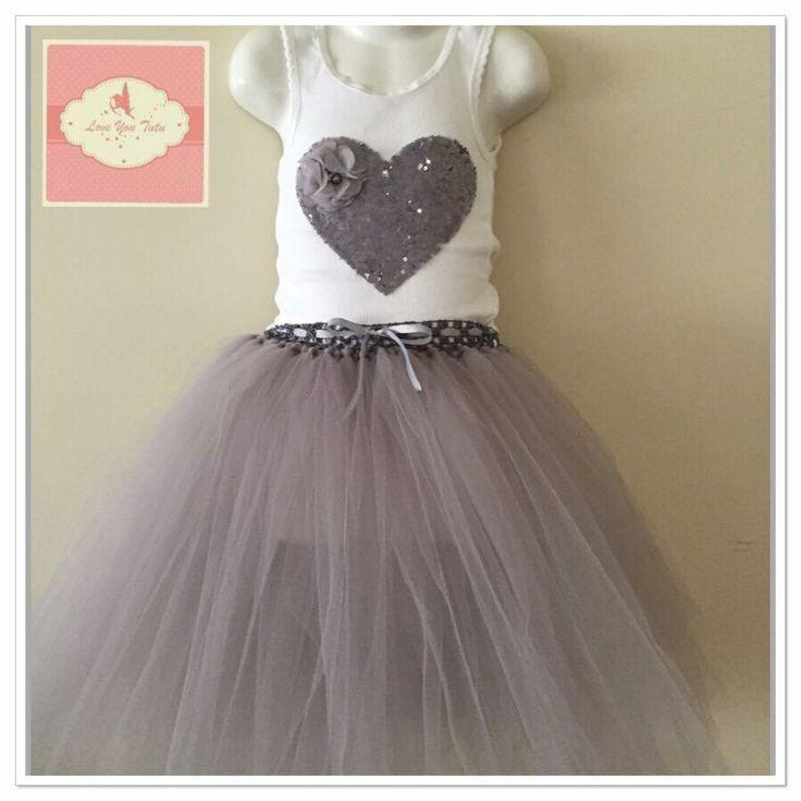Grey 3/4 tutu skirt  Available on the website  www.loveyoututu.com.au