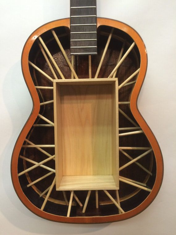 Guitar Shelf 35. Recycled Acoustic Guitar With By ARRtstudios