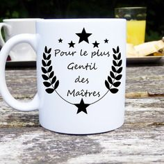 Mug original et personnalisable le plus gentil des maîtres, cadeau pour maître, tasse céramique
