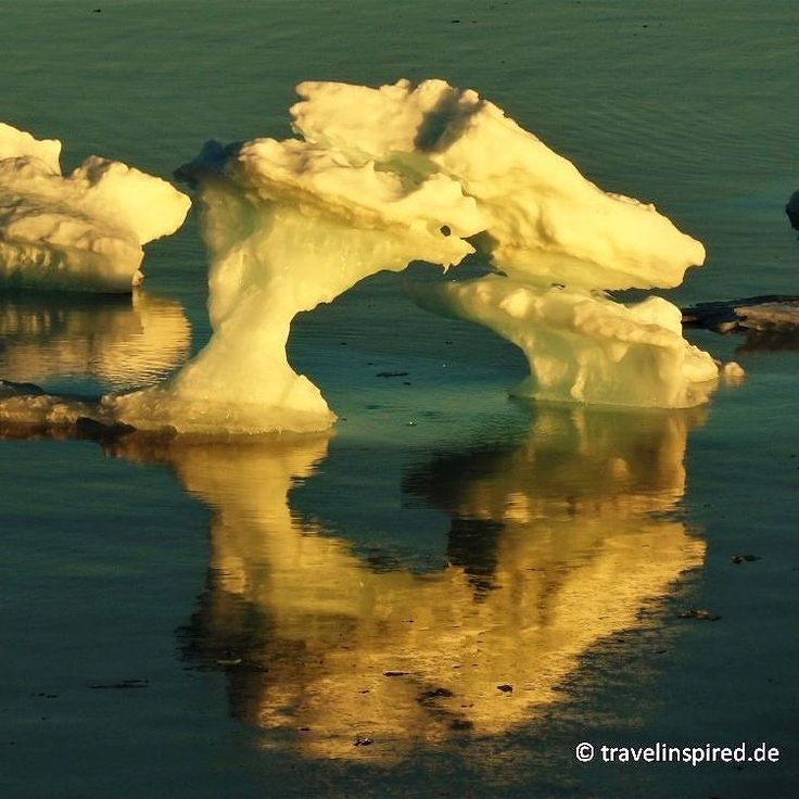 Beautiful iceberg in the morning sun -  Greenland!  #greenland #southgreenland #iceberg #fopanet #grönland #eisberg #reflection #spiegelung #cloudyday #stunningview #arctic #glacierice #arktis #fotoparade #photooftheday #naturephotography #landscapephoto #hurtigruten #msfram #expedition #exploretheworld #getawaytravel #travelinspired.de #boatcruise #traumreise