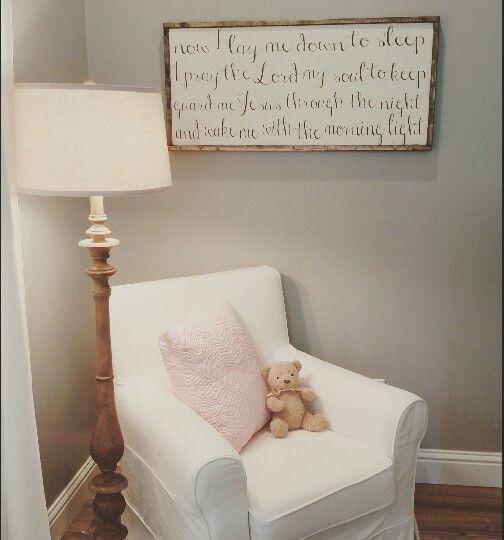 Now I Lay Me Down to Sleep nursery bedtime prayer sign