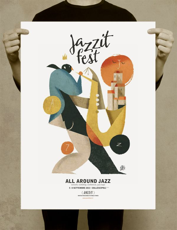 Jazzit fest by Riccardo Guasco, via Behance