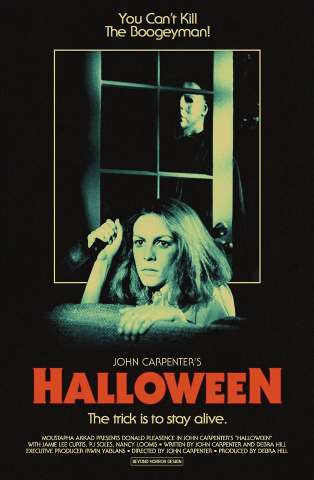 Halloween poster # John Carpenter..... Favorite horror film of all time. The remake made me so mad. I hated it.