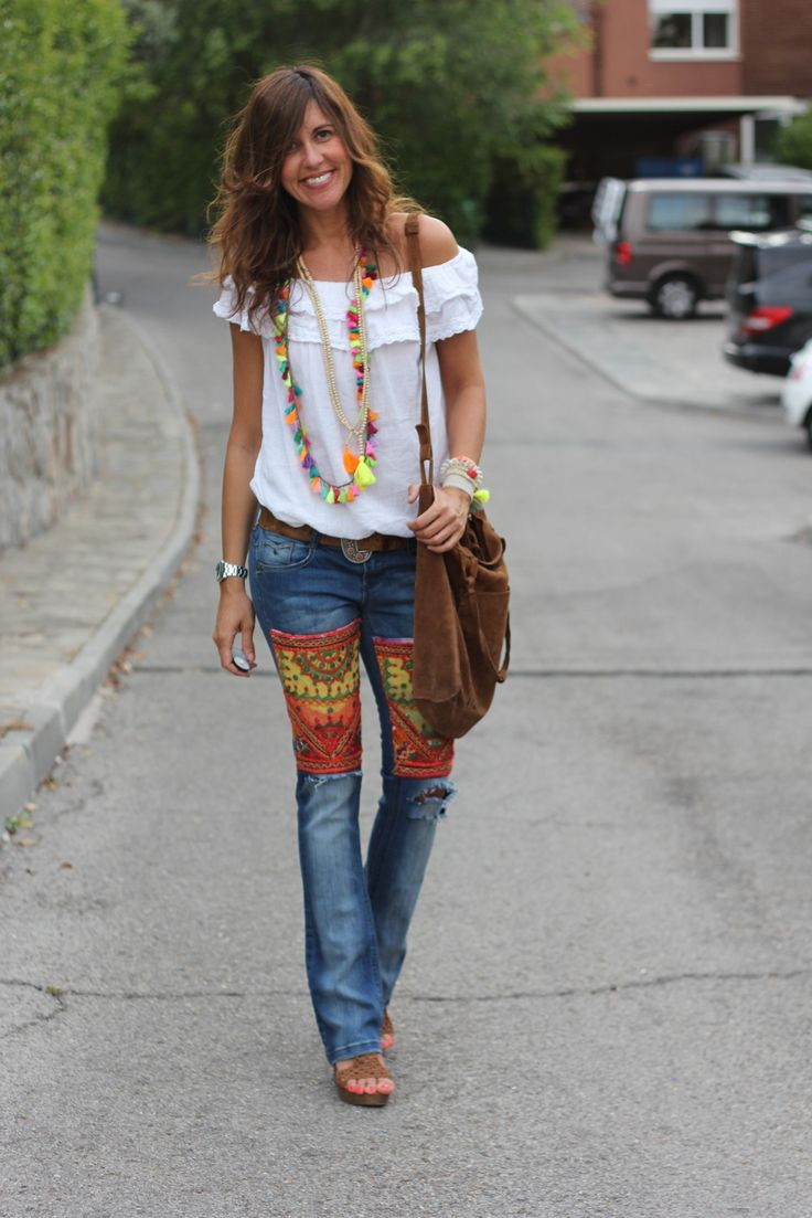 The Top, The Necklace, The Jeans, The Bag ~ Beautiful #Boho Stylin'