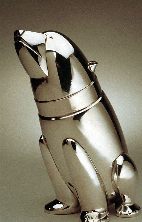 "An Art Deco ""Polar Bear"" silver-plated cocktail shaker, Danish, circa 1930's."