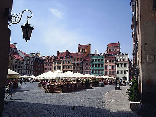 View of the market square in Old Town from Celna Street.