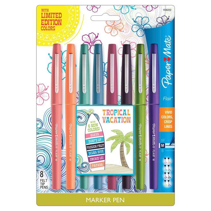 Paper Mate Marker Pens, Medium Tip, 8ct - Multicolor Ink,