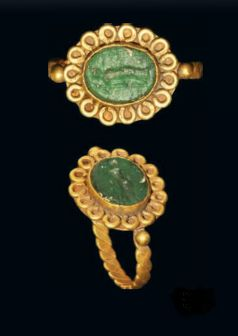Roman gold intaglio ring, 2nd century A.D.