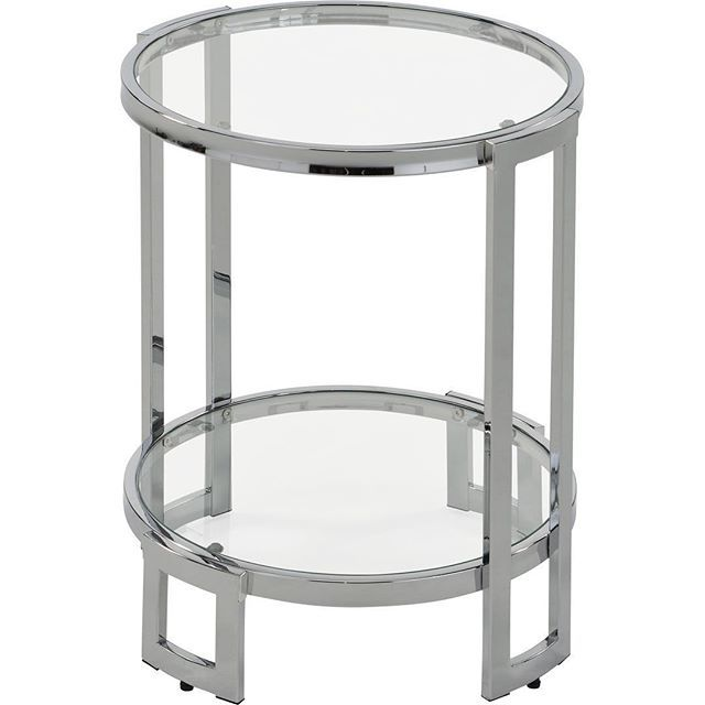 The Bogdon accent table in chrome from !nspire will add an element of chic to any decor...  http://worldwidehomefurnishingsinc.com/bogdon-accent-table-in-chrome.html