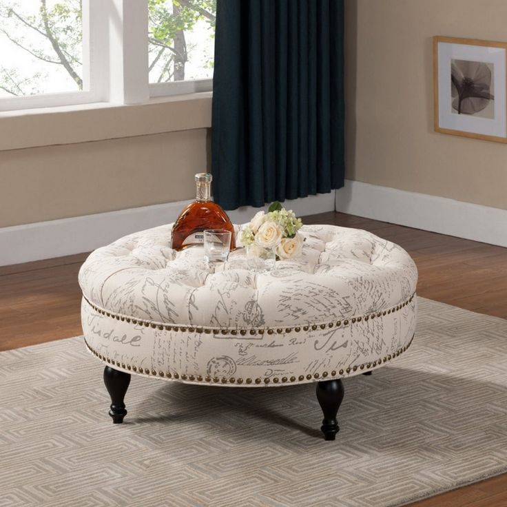 Best 25+ Upholstered ottoman coffee table ideas on